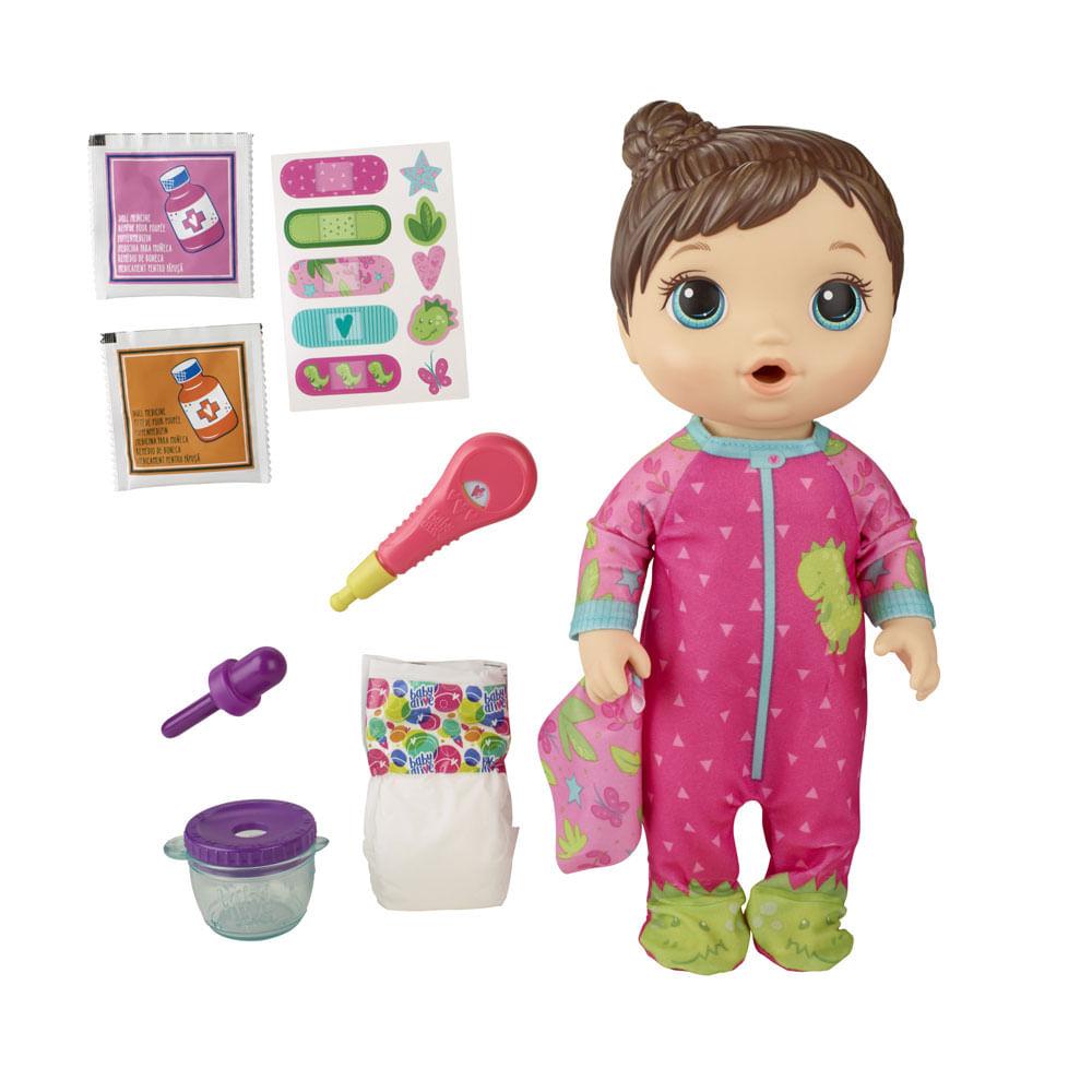Boneca Baby Alive - Aprendendo a Cuidar - Morena - Dinossauro - E6942 - Hasbro