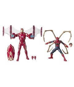 Boneco-Articulado-15-Cm---Marvel-80-Anos---Guerra-Infinita---Homem-de-Ferro-e-Aranha-de-Ferro---Hasbro