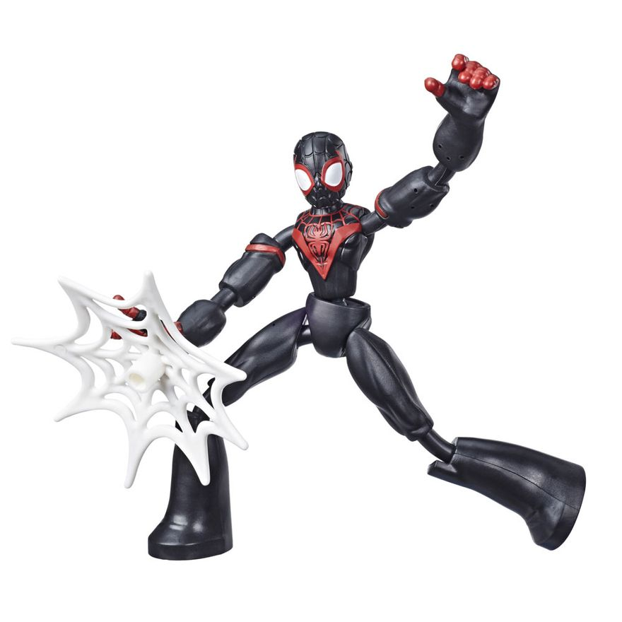 Boneco-Articulado---Marvel---Homem-Aranha---Miles-Morales---Bend-and-Flex---Hasbro