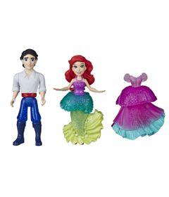 Conjunto-de-Mini-Bonecas---Princesas-Disney---Moda-Arco-Iris---Ariel---Royal-Clips---Hasbro