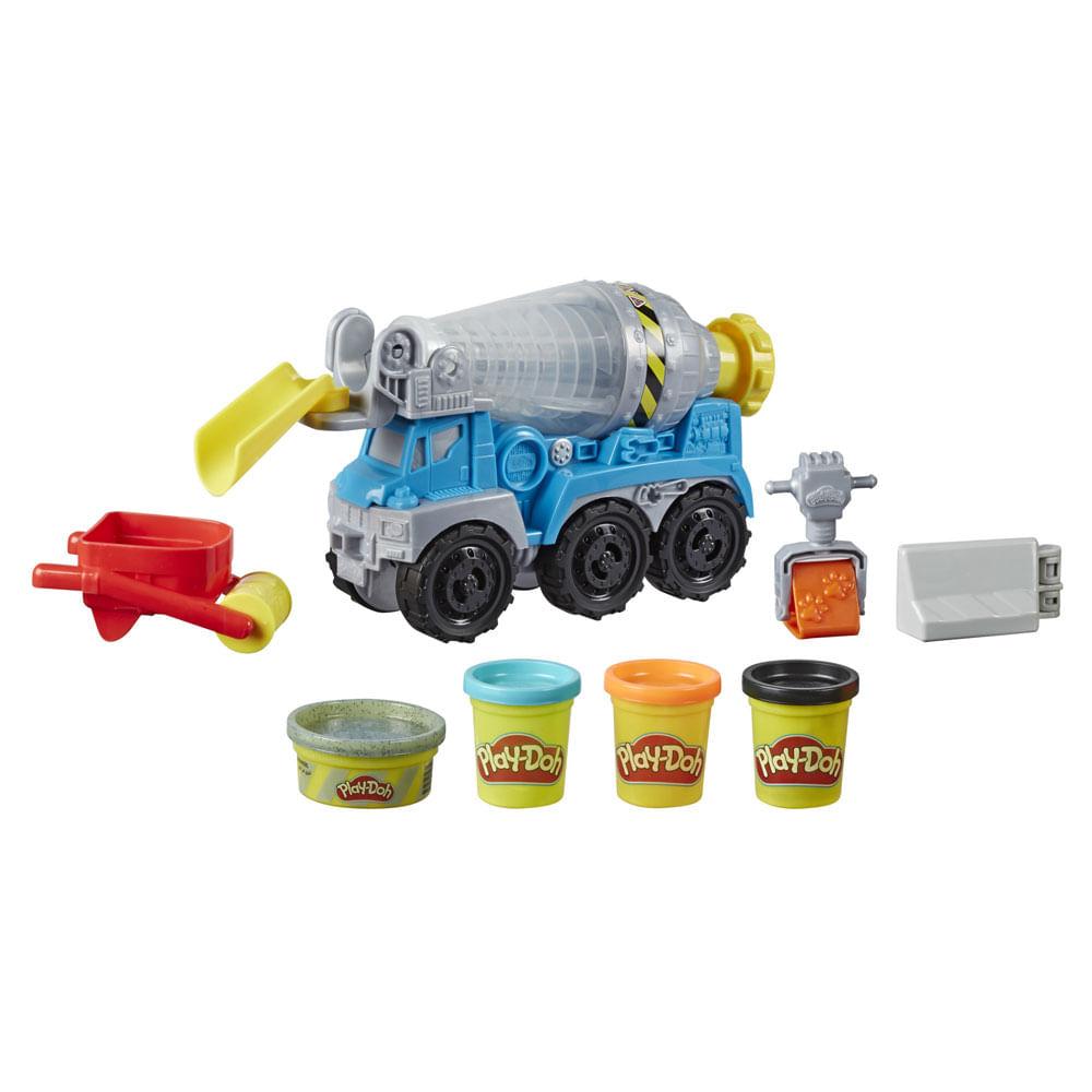 Conjunto Massa de Modelar - Play-Doh - Wheels - Caminhão de Cimento - Hasbro