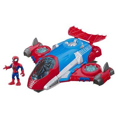 Mini-Boneco-e-Veiculo-12-Cm---Marvel---Super-Hero-Adventure---Homem-Aranha---Aracnojet---Hasbro