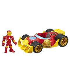 Mini-Boneco-e-Veiculo-12-Cm---Marvel---Super-Hero-Adventure---Homem-de-Ferro---Bolido---Hasbro