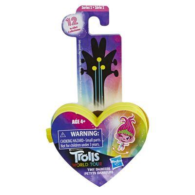 Mini-Figura-com-Acessorios---Trolls---Pequenos-Dancarinos---Coracao---Amarelo---Hasbro