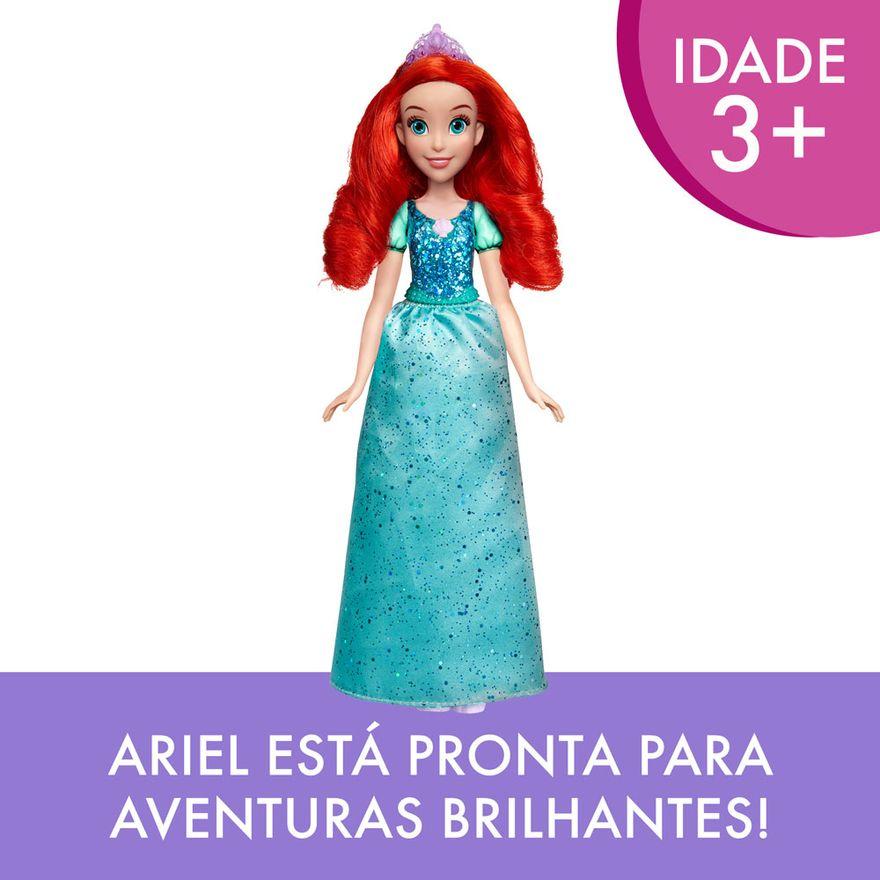 Boneca-Articulada---Princesas-Disney---Ariel---Brilho-Real---Figura-Classica---Hasbro