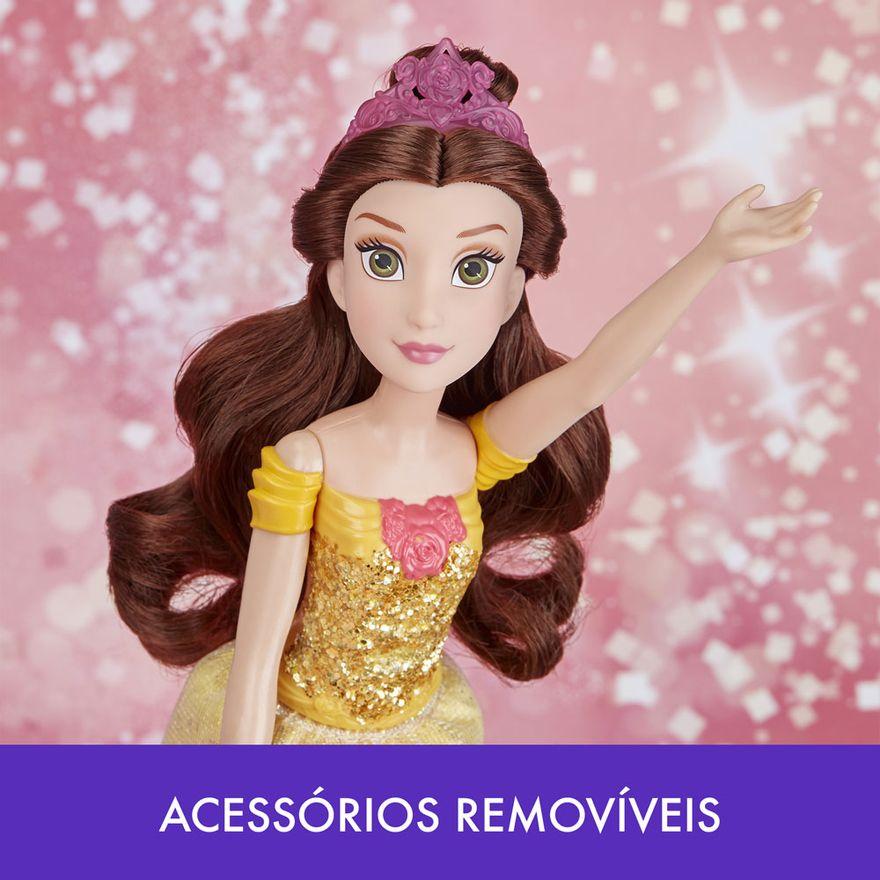Boneca-Articulada---Princesas-Disney---Bela---Brilho-Real---Figura-Classica---Hasbro