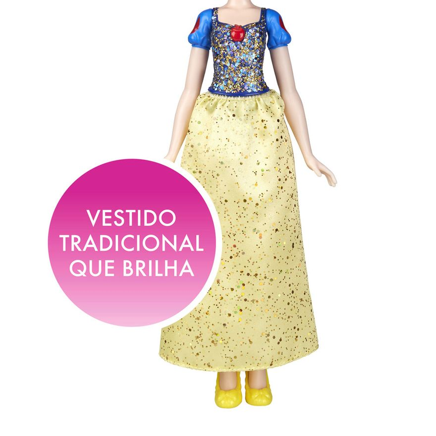 Boneca-Articulada---Princesas-Disney---Branca-de-Neve---Brilho-Real---Figura-Classica---Hasbro