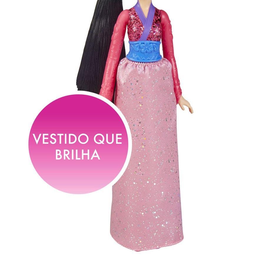 Boneca-Articulada---Princesas-Disney---Mulan---Brilho-Real---Figura-Classica---Hasbro