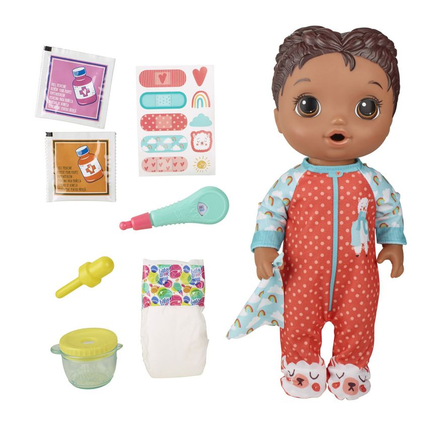 Boneca-Baby-Alive---Aprendendo-a-Cuidar---Negra---Lhama---E6941---Hasbro