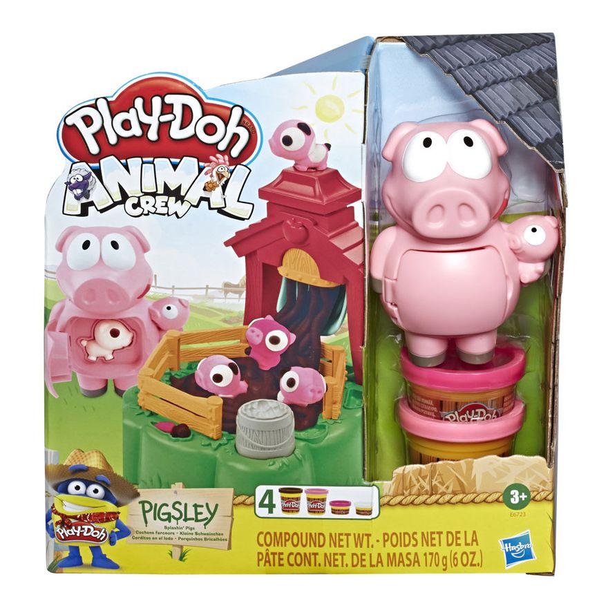 Conjunto-Massa-de-Modelar---Play-Doh---Fazendinha-da-Mamae-Leitoa-e-Seus-Porquinhos-Brincalhoes---Hasbro