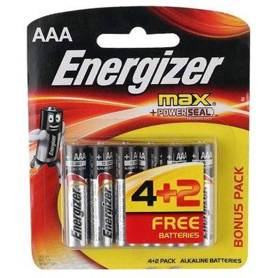 Pilhas-Alcalinas---LR03-Palito---AAA---Cartela-com-6-Unidades---Energizer-Max