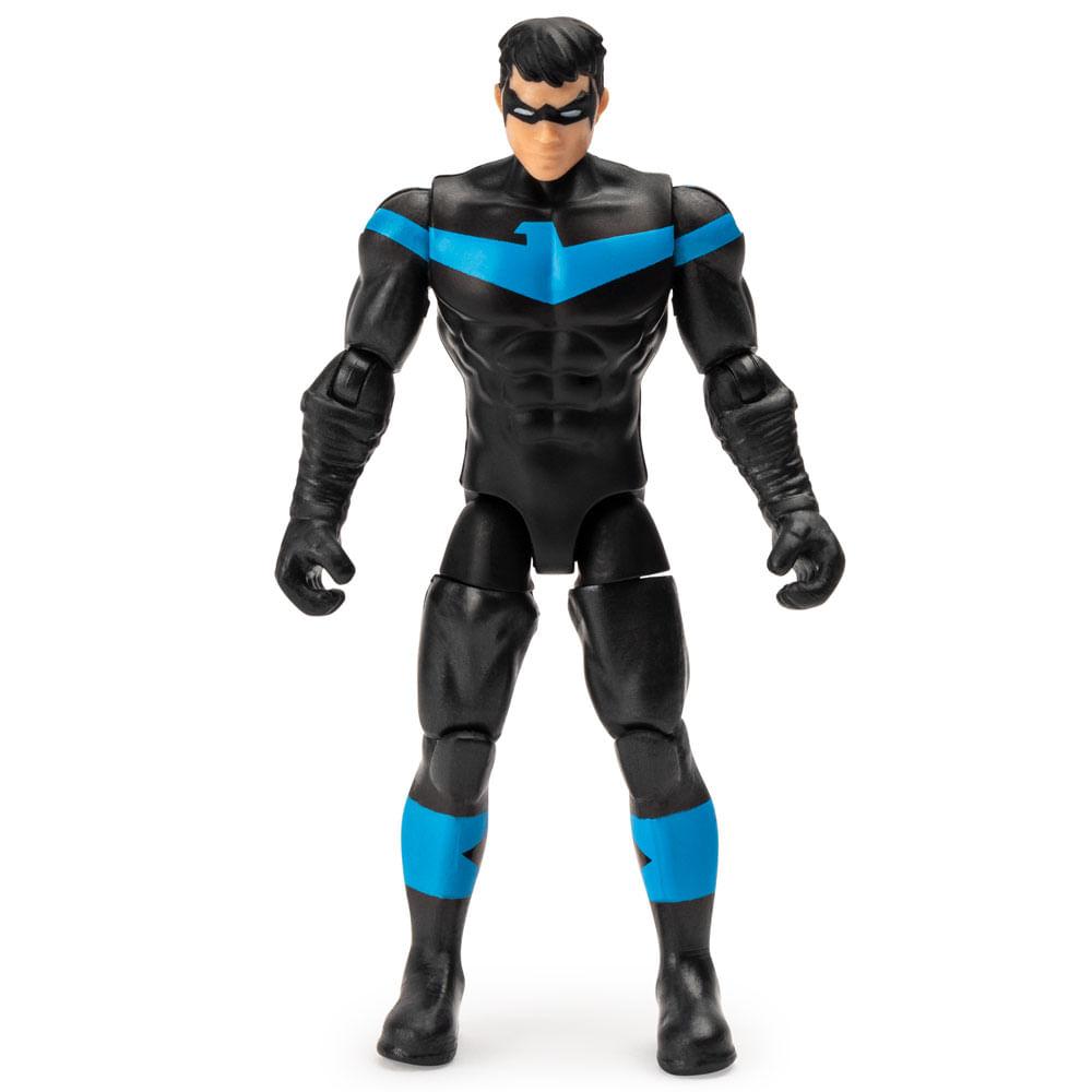 Mini Figura Articulada com Acessórios Surpresa - 9 Cm - DC Comics - Nightwing - Sunny