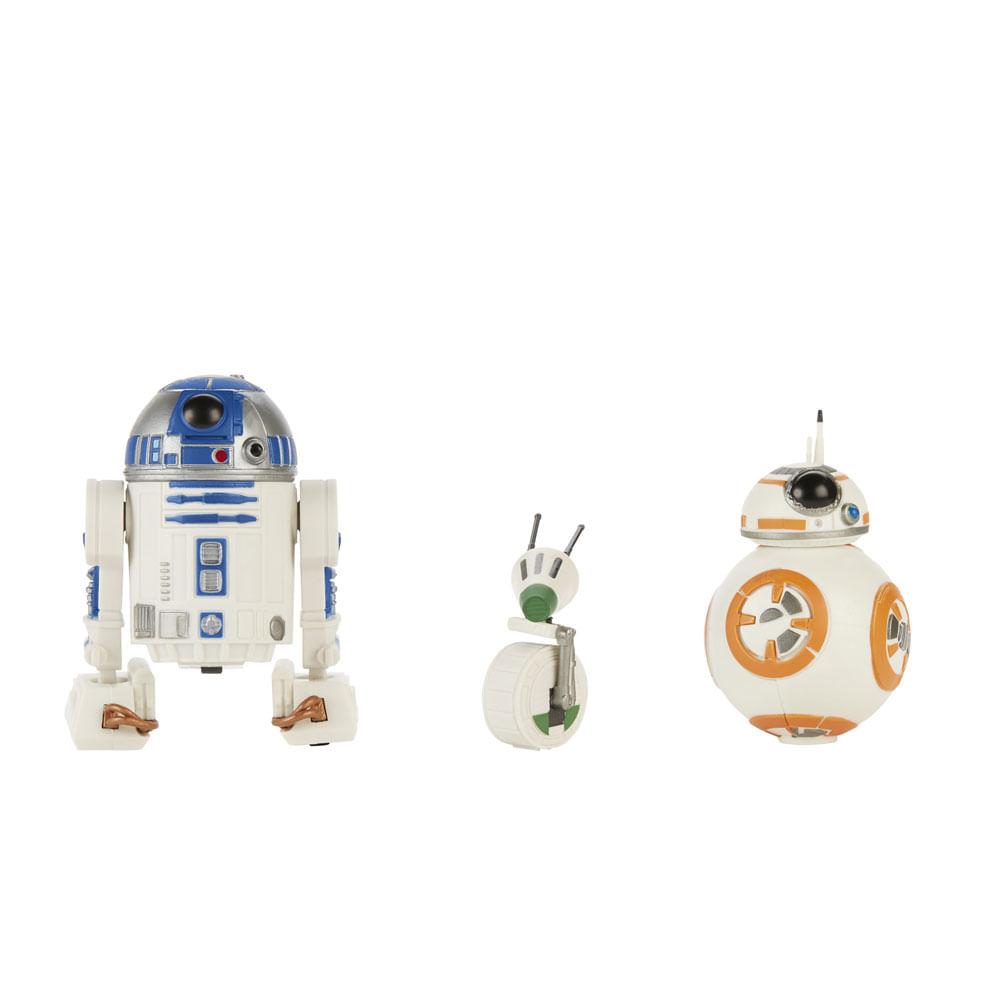 Conjunto de Figuras 5 Cm - Star Wars - The Rise Of Skywalker - R2-D2 - BB-8 - D-0 - Hasbro