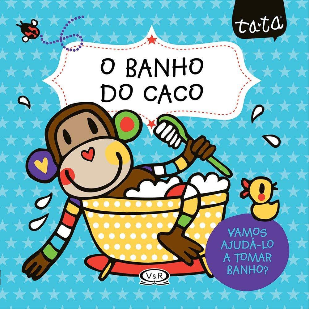 Livro de Pano Infantil - O Banho do Caco - Catavento