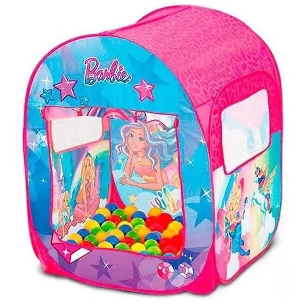 Barraca Infantil - Barbie - Mundo dos Sonhos - 50 Bolinhas - FUN