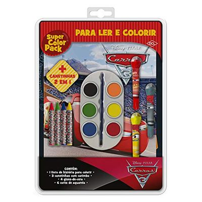 Livro-de-Colorir---Super-Color-Pack---Disney---Carros-3---DCL--Editora