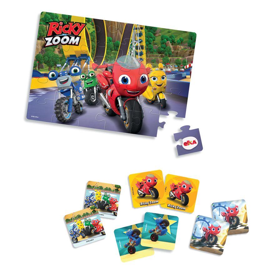 Conjunto-De-Jogos---Quebra-Cabeca-30-Pecas-E-Jogo-Da-Memoria---Ricky-Zoom---Elka-1