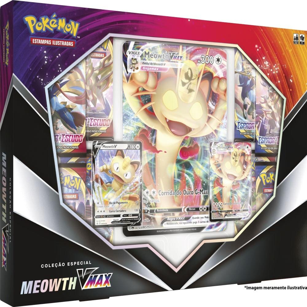 Cards Pokémon - Coleção Especial - Meowth Vmax - Copag