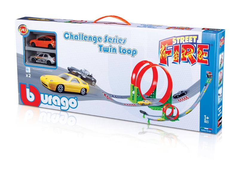 Pista Street Fire - Desafio looping Duplo - 1/43 - Burago