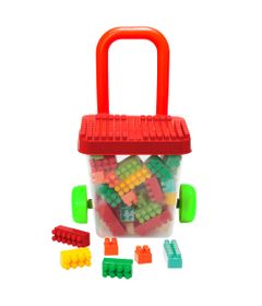Carrinho-Balde-de-Puxar-com-Blocos---Smoby-Brick---Vermelho-e-Verde---Gulliver