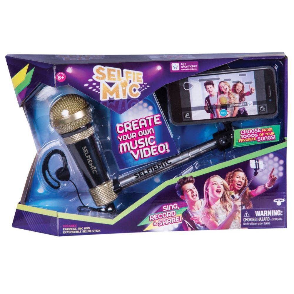 Selfie Microfone - Estrela - PRETO