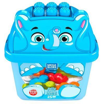 Blocos-de-Montar---Mega-Bloks---Amigo-Elefante-Azul---25-Pecas---Fisher-Price