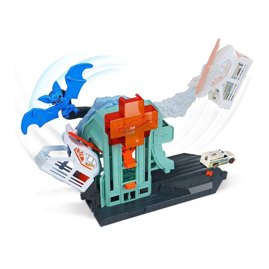 Pista-Hot-Wheels---Ataque-do-Morcego-no-Hospital---Mattel-4