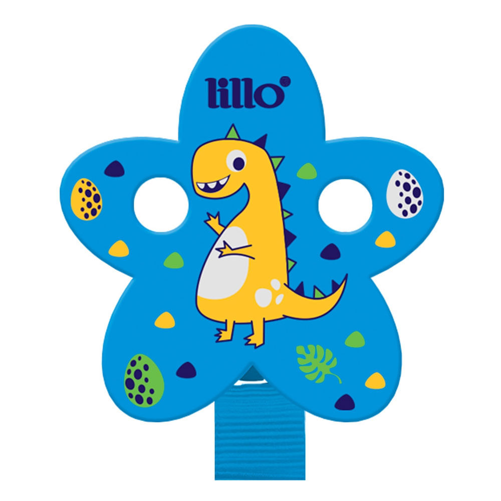Prendedor de Chupeta - Magia Azul - Dinossauro - Lillo