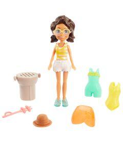 Boneca-e-Acessorios---Polly-Pocket---Conjunto-Fashion-Pequeno-da-Polly---Shani-na-Praia---Mattel