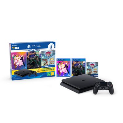Console---Playstation-4---Slim-Bundle-Hits-V11---Family---1Tb---Sony-0