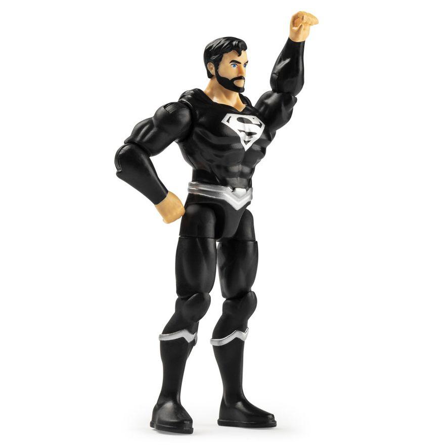 Mini-Figura-Articulada---10-Cm---DC-Comics---Liga-da-Justica---Superman-Preto---Sunny