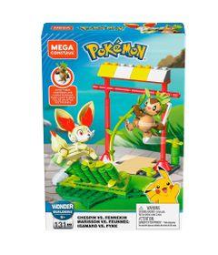 Blocos-de-Montar---Mega-Construx---Playset-de-Batalha---Pokemon---Chespin-vs-Fennekin---Mattel