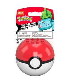 Blocos-de-Montar---Mega-Construx---Pokemon---Pokebola-com-Bulbasaur---Mattel
