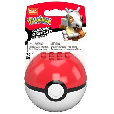 Blocos-de-Montar---Mega-Construx---Pokemon---Pokebola-com-Cubone---Mattel