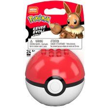 Blocos-de-Montar---Mega-Construx---Pokemon---Pokebola-com-Eevee---Mattel