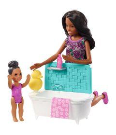 Boneca-Barbie---Babysitter---Cojunto-Baba---Hora-do-Banho---Mattel