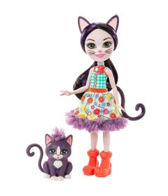 Boneca-Fashion-e-Animal---Enchantimals---Ciesta-Cat-e-Climber---Mattel
