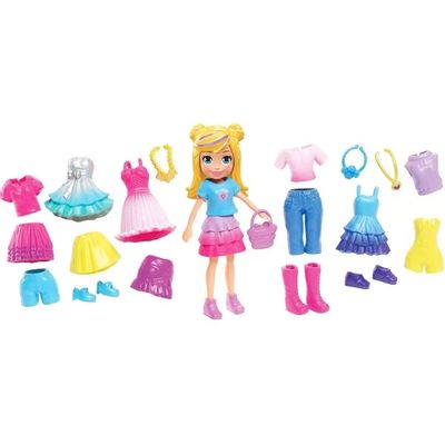 Boneca-Polly-Pocket---Polly-Pronta-para-a-Festa---Kit-Fabuloso---Mattel
