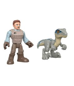 Figura-Basica-Imaginext---Jurassic-World-2---Owen-e-Blue---Fisher-Price