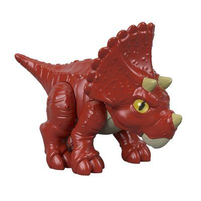 Mini-Figura---7-Cm---Imaginext---Jurassic-World---Filhote-Triceratops---Vermelho---Fisher-Price