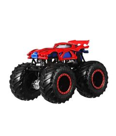 Veiculo-Die-Cast---Hot-Wheels---1-64---Monster-Trucks---Spider-Man---Mattel