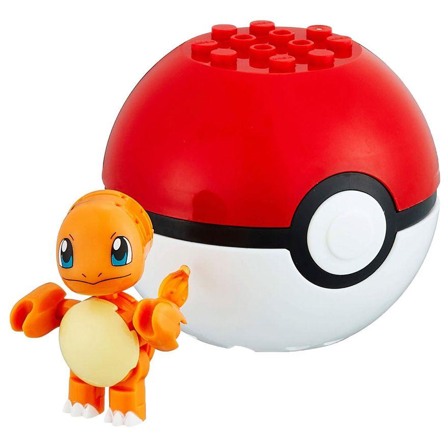 Blocos-de-Montar---Mega-Construx---Pokemon---Pokebola-com-Charmander---Mattel