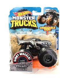 Veiculo-Die-Cast---Hot-Wheels---1-64---Monster-Trucks---Mega-Wrex---Black---White---Mattel
