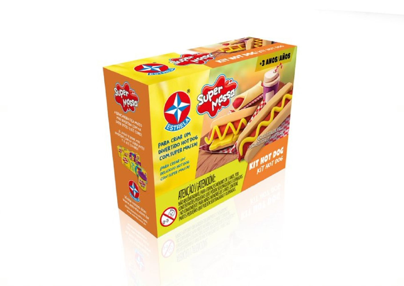 Massa De Modelar - Super Massa - Kit Hot Dog - Estrela