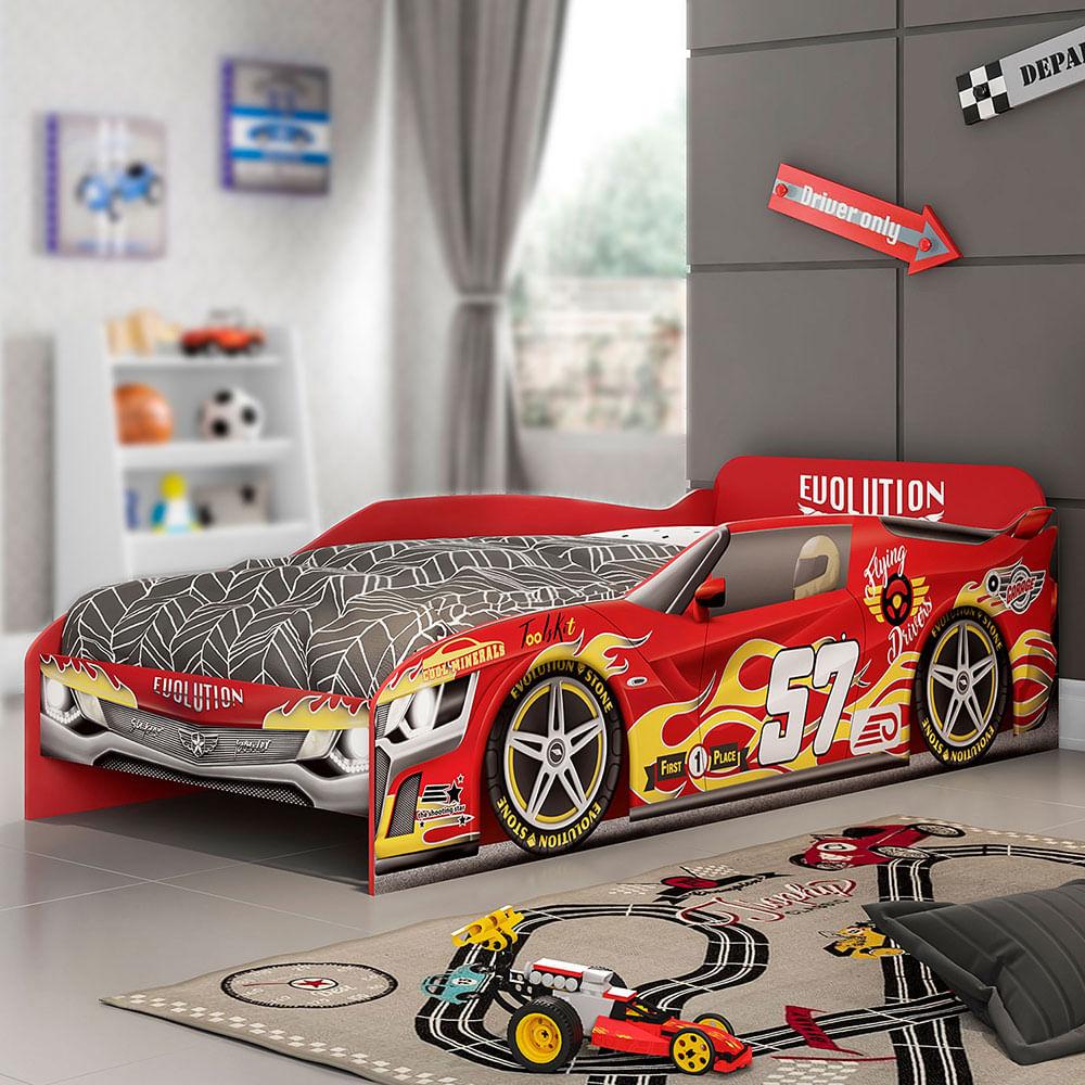 Cama Infantil Carro Evolucion Car Móveis Estrela