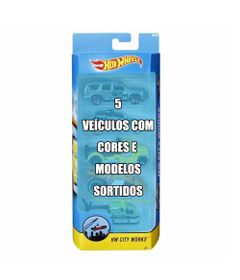 Conjunto-de-Veiculo-Hot-Wheels---Pacote-com-5-Sortidos---Serie-City-Works---Mattel