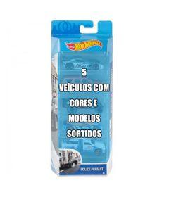 Conjunto-de-Veiculo-Hot-Wheels---Pacote-com-5-Sortidos---Serie-Police-Pursuit---Mattel