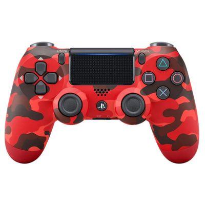 Controle-para-PS4---DualShock---Camuflagem-Vermelho---Sunny