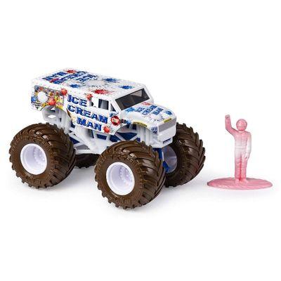 Mini-Veiculo-e-Figura---1-64---Monster-Jam---Ice-Cream-Man---Sunny