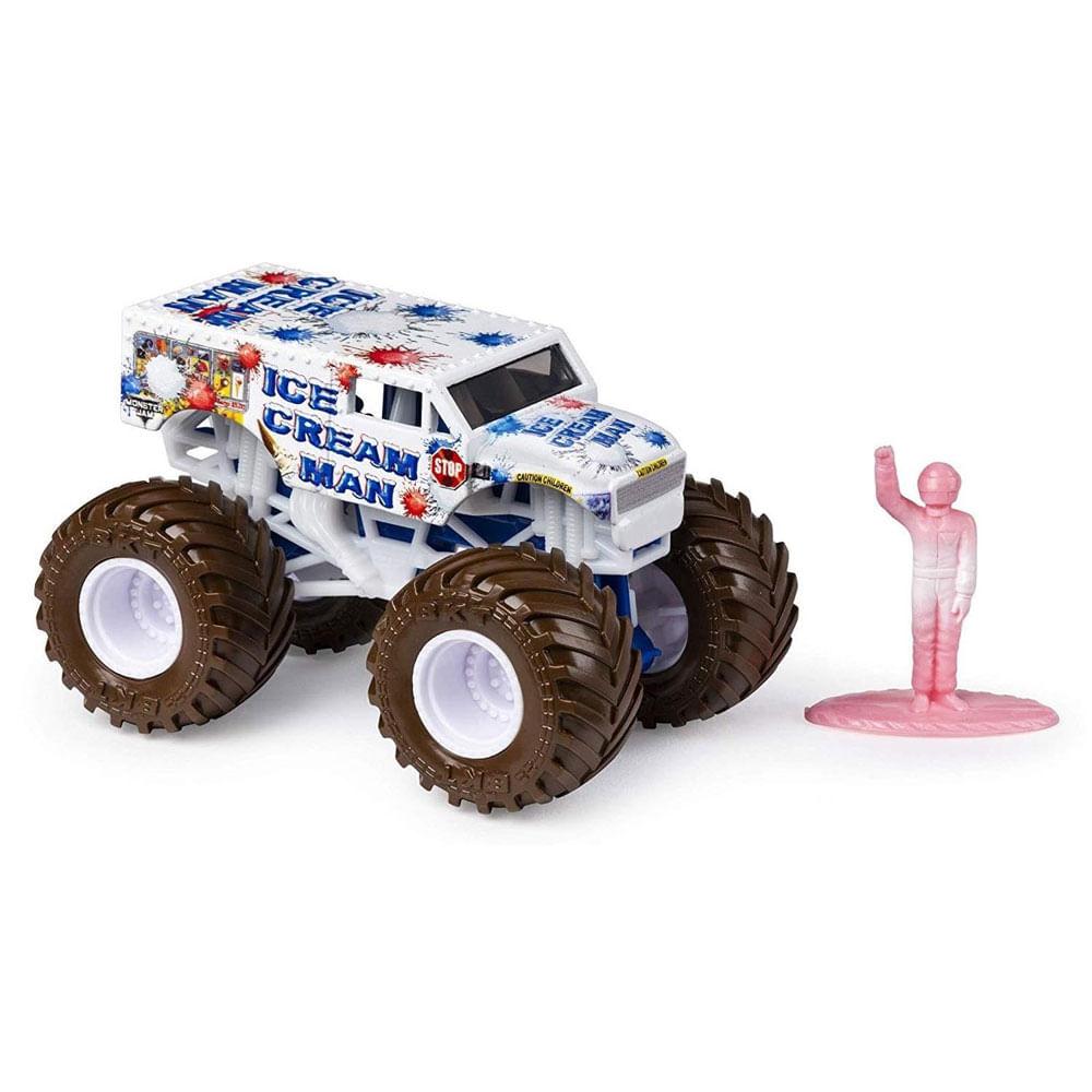 Mini Veículo e Figura - 1:64 - Monster Jam - Ice Cream Man - Sunny